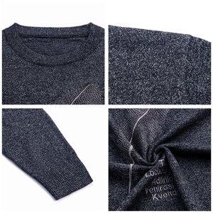 Image 5 - COODRONY suéter informal de punto para hombre, Jersey de algodón con cuello redondo, jersey de lana para hombre, moda de otoño e invierno, 91080