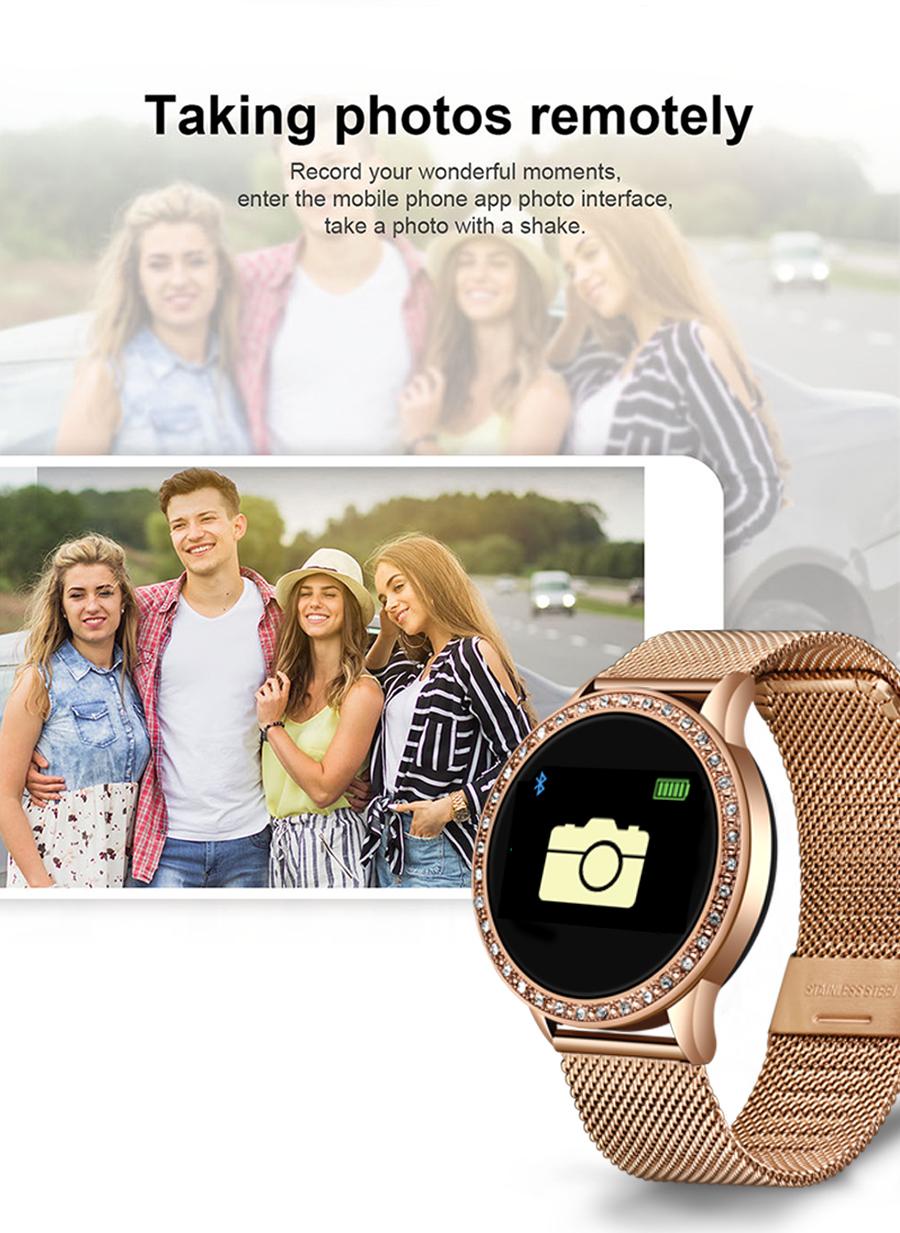 Reloj inteligente LIGE para mujer con monitor, seguidor Fitness de frecuencia cardíaca y presión arterial 9
