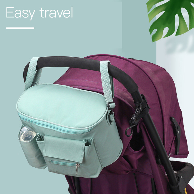 SeckinDogan Baby Stroller Bag Large Capacity Diaper Bags Outdoor Travel Hanging Carriage Mommy Bag Infant Care Organizer | Happy Baby Mama