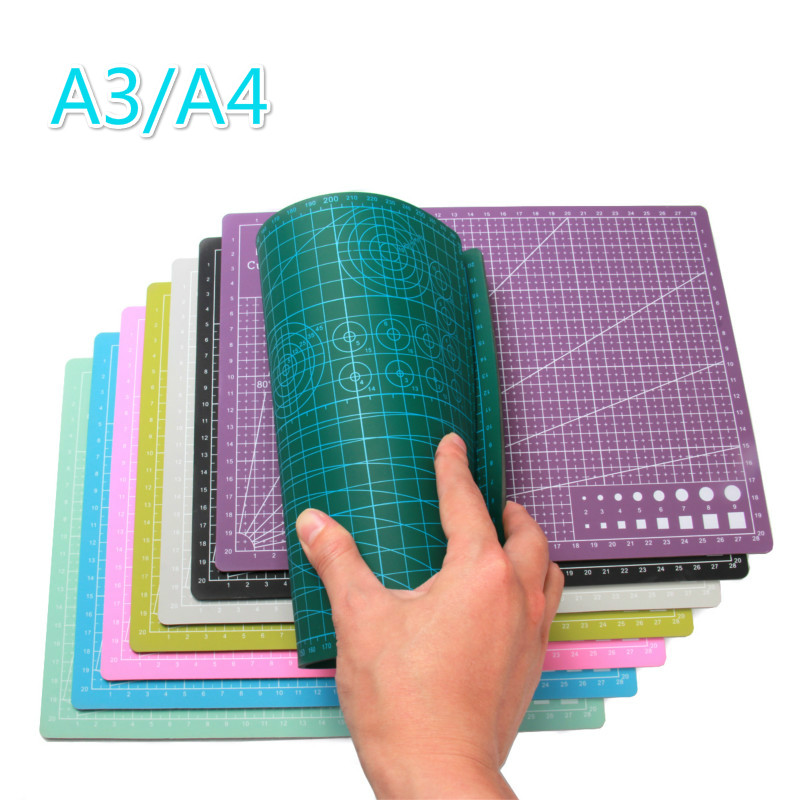 1 Piece A3/A4cutting Mat Pvc Rectangular Grid Line Self-healing Cutting Board Tool Fabric Leather Paper Model Diy Tool Board Pad