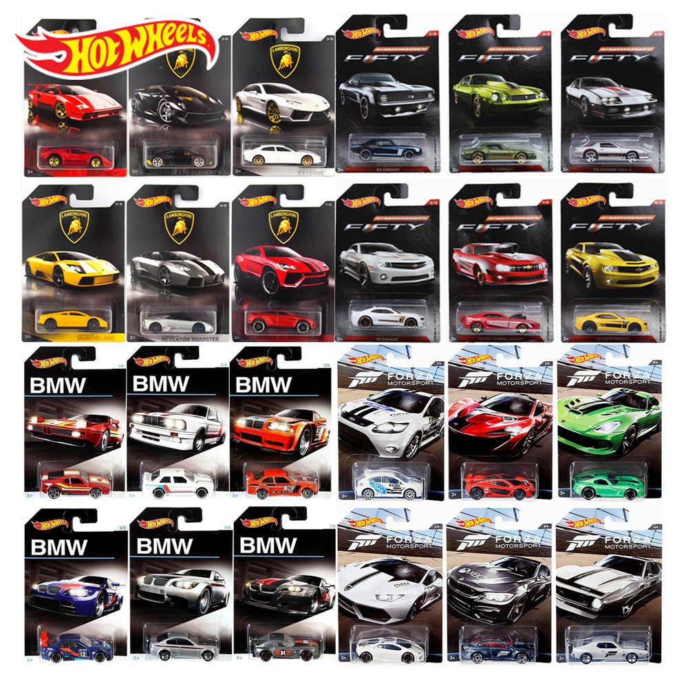 Original Hot Wheels Car 1:64 Collector Edition The 50th Anniversary of Rambogini Honda Ford Metal Diecast 1/64 Model Car Toy