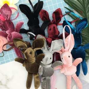 New Brand 1Pc 20cm Mini Plush Rabbit Toys Bag Keychain Pendant PP Cotton Soft Stuffed