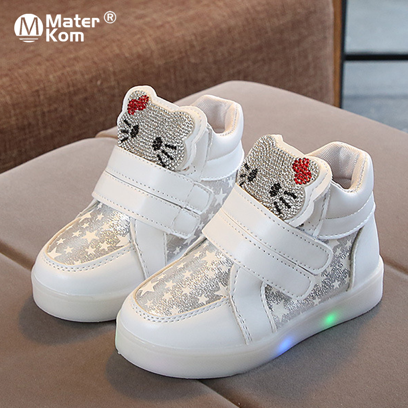 Size 21-30 Children's Shoes Girls Sneakers Kids Shoes For Girls Glowing Sneakers Lighted Shoes Girls Sneakers With Luminous Sole