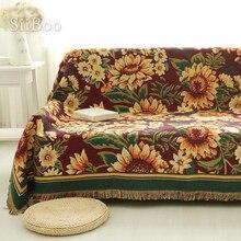 Toalla de 100% algodón sofá con sofá estampado doble Gerbera/Manta para silla antideslizante funda de sofá clásico envío gratis SP2208