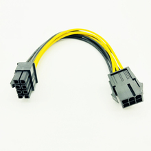PCI Express Power-Converter-Cable Video-Graphics-Card 6pin Male for BTC CPU To 8pin 20cm