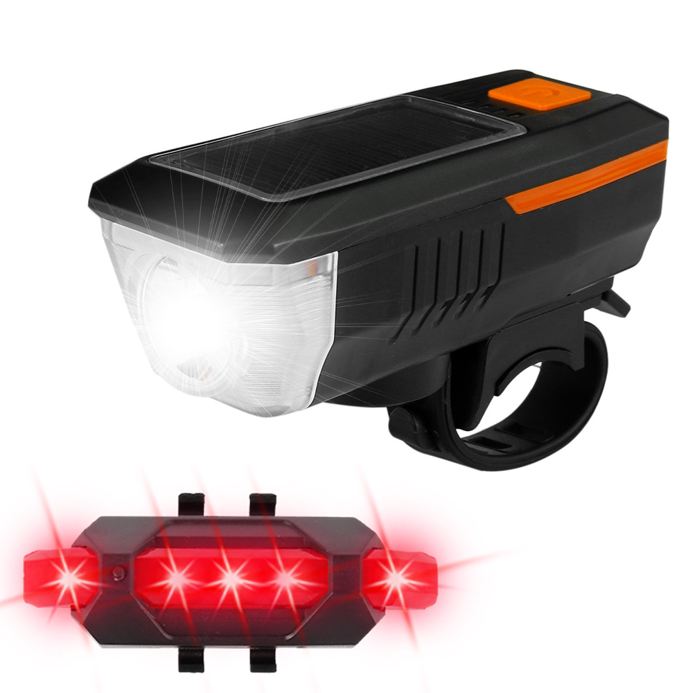 Horn T6 Rechargeable W// USB Bicycle Light Smart Bike Front Headlight LED MTB