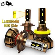 LSlight LED reflektor H7 H4 H11 H1 9006 HB2 HB4 H8 H9 ledowa żarówka samochodowa 6000K 9600LM 72W 12V 24V światła samochodowe diody lodu u nas państwo lampy luces