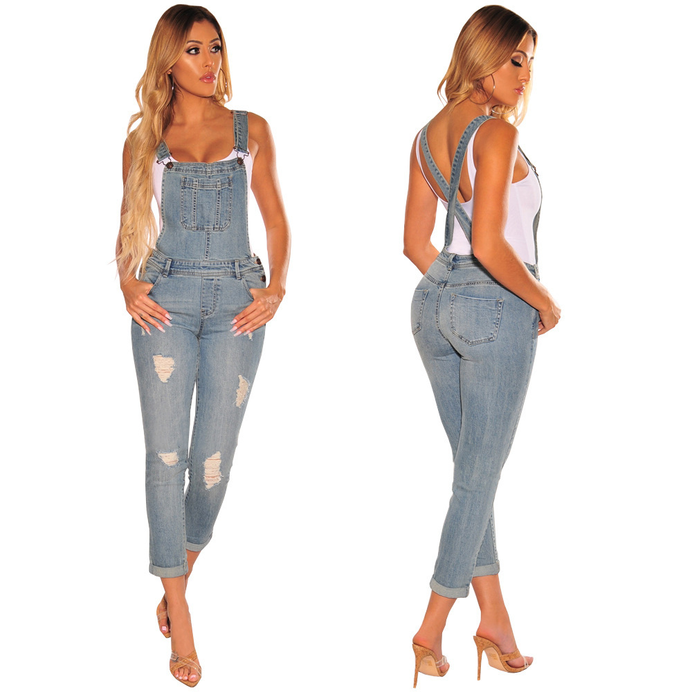 2019 Fashion New African Ethnic Clothing Hit The Sales Fashion Joker Hand-worn Bullet-free Slim Women's Denim Suspenders