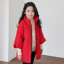 New Arrivals 2019 Kids Winter Jacket For Teenage Girls Outerwear Tops Clothes Children Warm Red Zipper Padded Clothing Girl Coat(China)