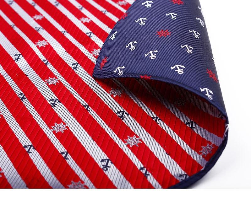 Индивидуальные 8 см мужские шелковые галстуки формальные Полосатый горошек клетка, Жаккард свадебные галстуки Новая мода Классический кор... - 5