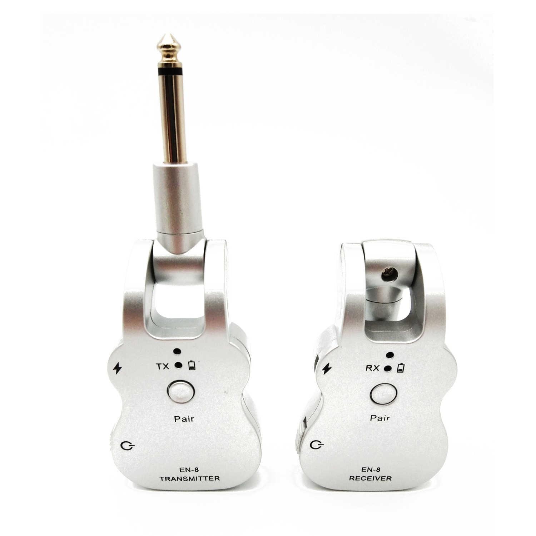 UHF transmisor de Audio inalámbrico sistema receptor USB recogida para guitarra eléctrica bajo partes de instrumentos musicales