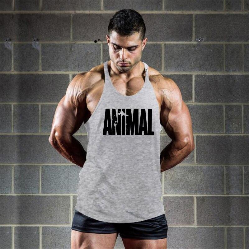 Brand Gym Clothing Animal Muscle Singlet Canotte Bodybuilding Stringer Top Men Fitness Shirt Muscle Guys Sleeveless Vest Tanktop