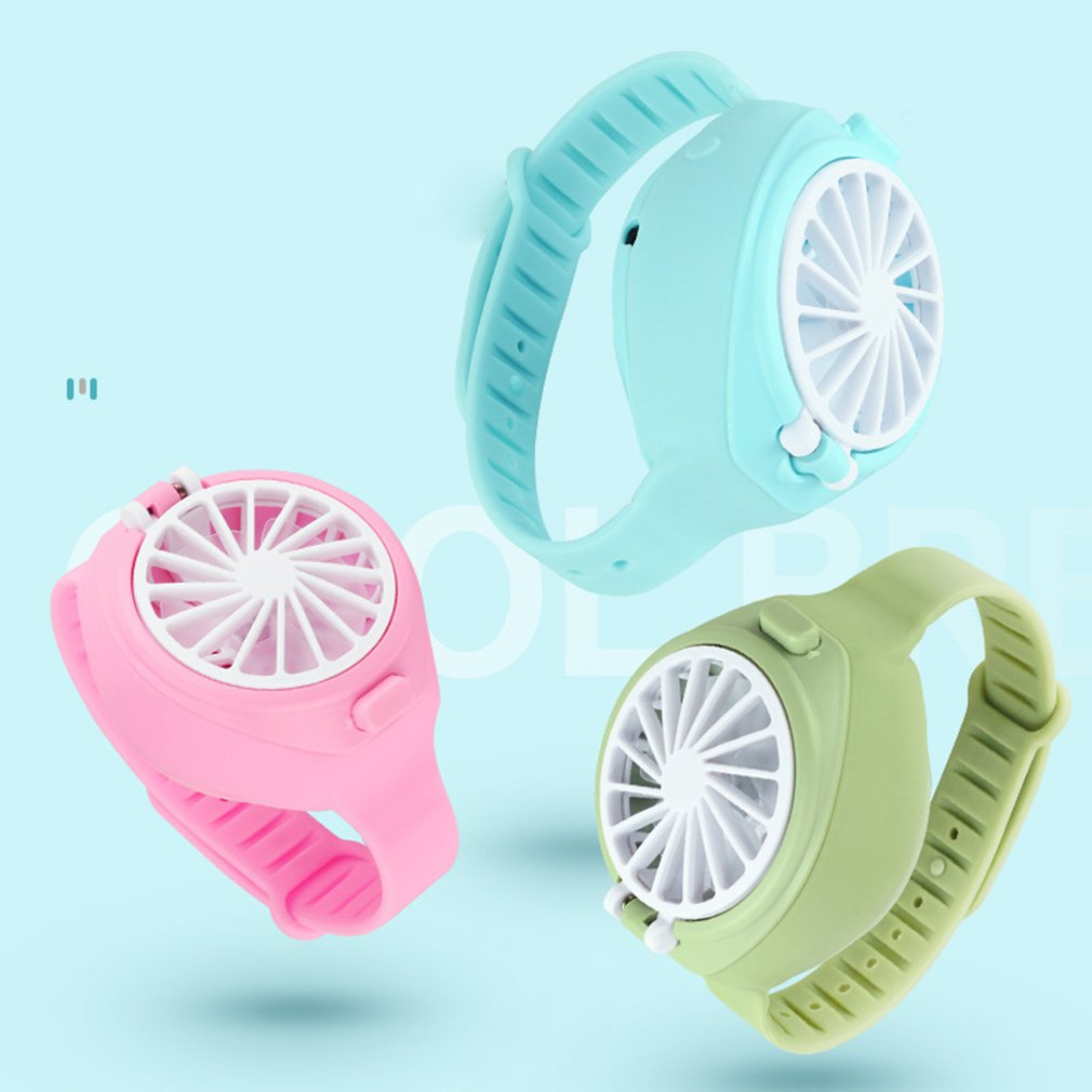 Handheld Electric Mini Watch Simple Fan Portable Summer Rechargeable USB Folding Fashion Pocket Small Fan
