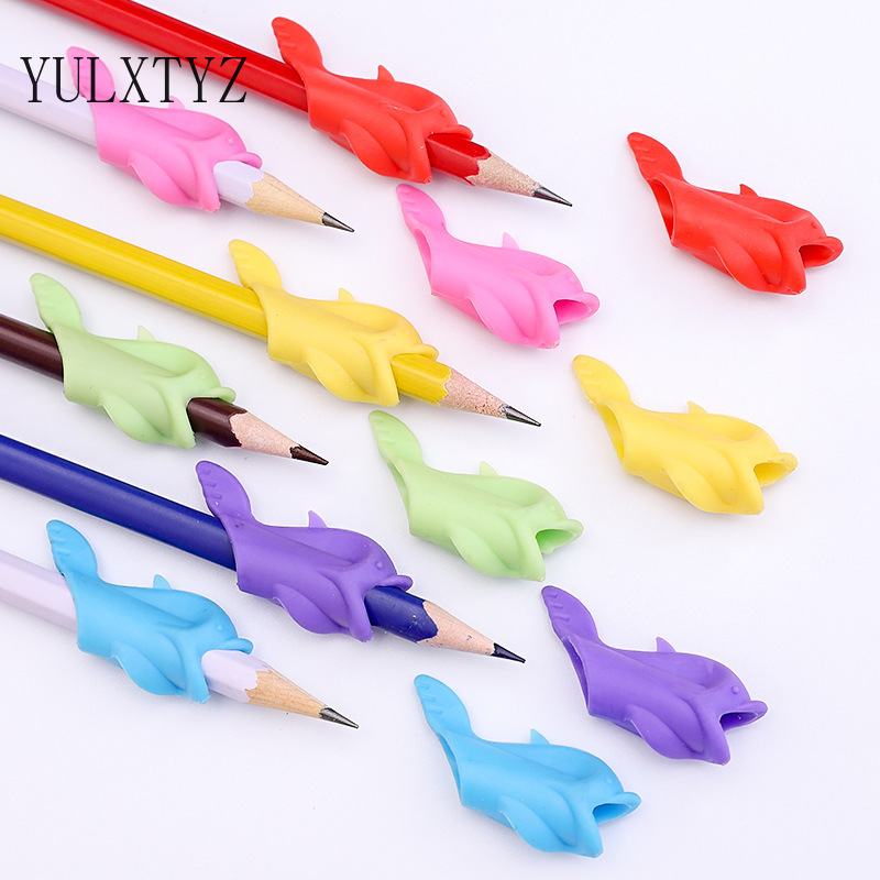 3/5pcs Pen Grip Students Writing Pencil Silicone Pencil Grip for Kids Holding Practise Device School