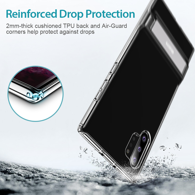 ESR Transparent Business Phone Case for Samsung Galaxy Note 10 Plus + 5G Metal Stand Kickstand Shockproof TPU Cover for S20 Plus 2