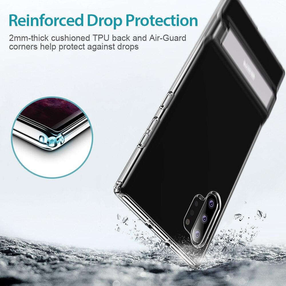 Image 2 - ESR funda transparente para teléfono de negocios para Samsung Galaxy Note 10 Plus + 5G soporte de Metal Kickstand a prueba de golpes TPU cubierta para S20 PlusFundas ajustadas   -
