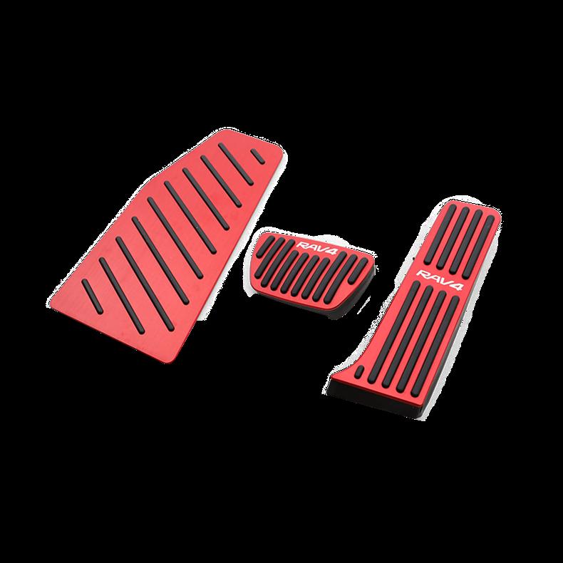 For Toyota RAV4 RAV-4 2019 2020 Aluminum Car Accelerator Pedal Brake Pedal 3pcs Footrest Pedal Plate Cover