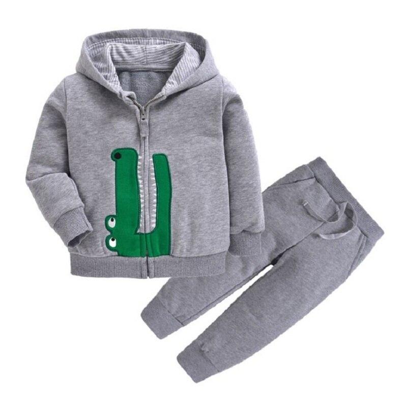 Одежда для маленьких девочек пальто с капюшоном с длинными рукавами и вышитым единорогом+ штаны, г. Весенняя одежда для маленьких мальчиков комплект для малышей, одежда для малышей - Цвет: 20