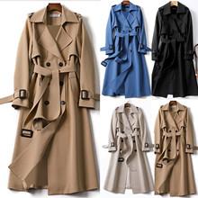 Plus rozmiar moda ciepły długi płaszcz Casual Ladies wiatrówka dwurzędowa kurtka płaszcz kobieta zima z długim rękawem damska odzież wierzchnia tanie tanio YOUYEDIAN CN (pochodzenie) REGULAR Wykładany kołnierzyk DWURZĘDOWE Na co dzień Pełne Ladies terry stand collar stitching button coat top