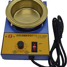 100mm Lead Free Solder Pot with Capactity for Welding and Soldering Bath, 110V 150W