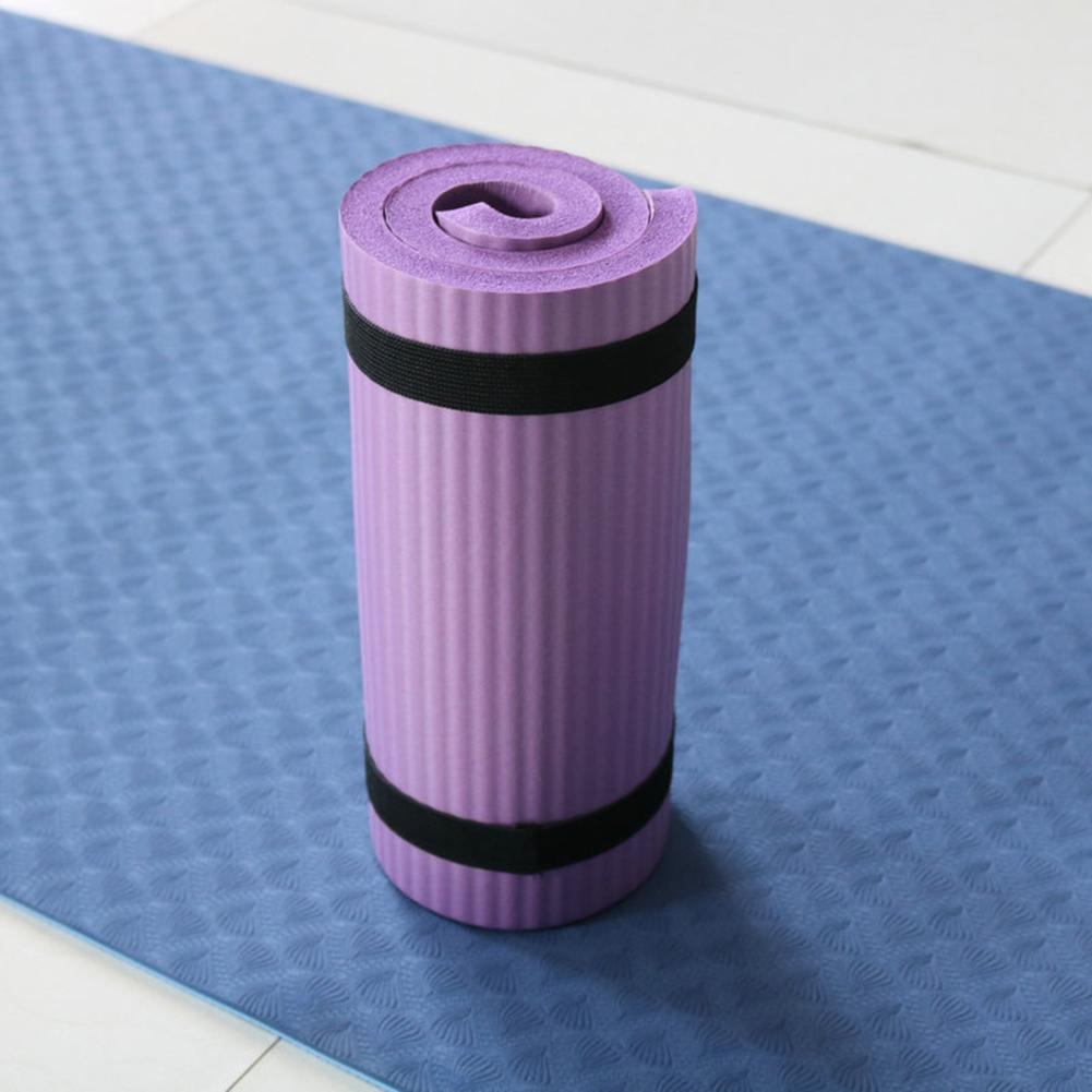 Yoga Mat Thick NBR Yoga Pad for Workout Training Abdominal Exercise 17