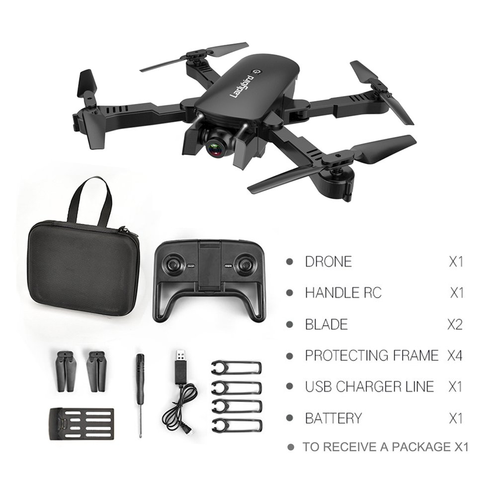 R8 Drone Folding Professional drone hubsan HD Aerial Four Axis Aircraft Optical Follow Dual Camera With Storage bag And Battery