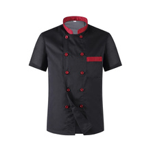 Double Breasted Chef Jacket Kitchen Restaurant Cook Workwear Chef Uniform Shirt Catering Food Service Barbearia Worl Clothes