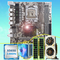 Фирменная материнская плата HUANAN ZHI X58 Материнская плата с процессором Intel Xeon X5650 16G(2*8G) REG ECC карта памяти GTX750Ti 2GD5
