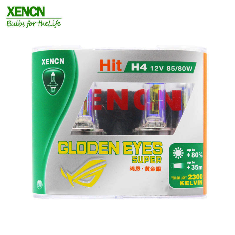 XENCN H4 12V 85/80W P43t 2300K Halogen Headlihgt Replace Upgrade Super Yellow Light Car Bulbs  Free Shipping 2Pcs 8401GDE