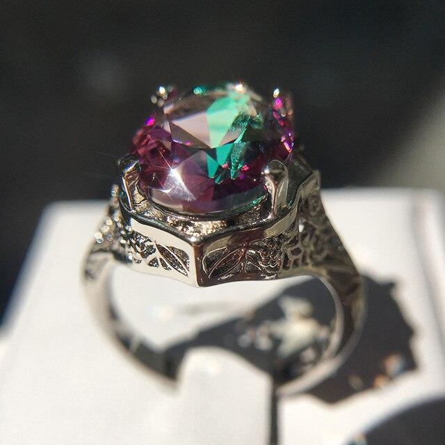 Фото новое поступление винтажные цветные кольца с большим цирконием