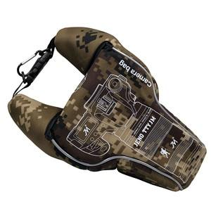 Image 5 - 삼각형 위장 디지털 dslr 카메라 비디오 가방 렌즈 튜브 shockproof 스포츠 사진 보호 케이스 펜탁스 캐논 니콘에 대한