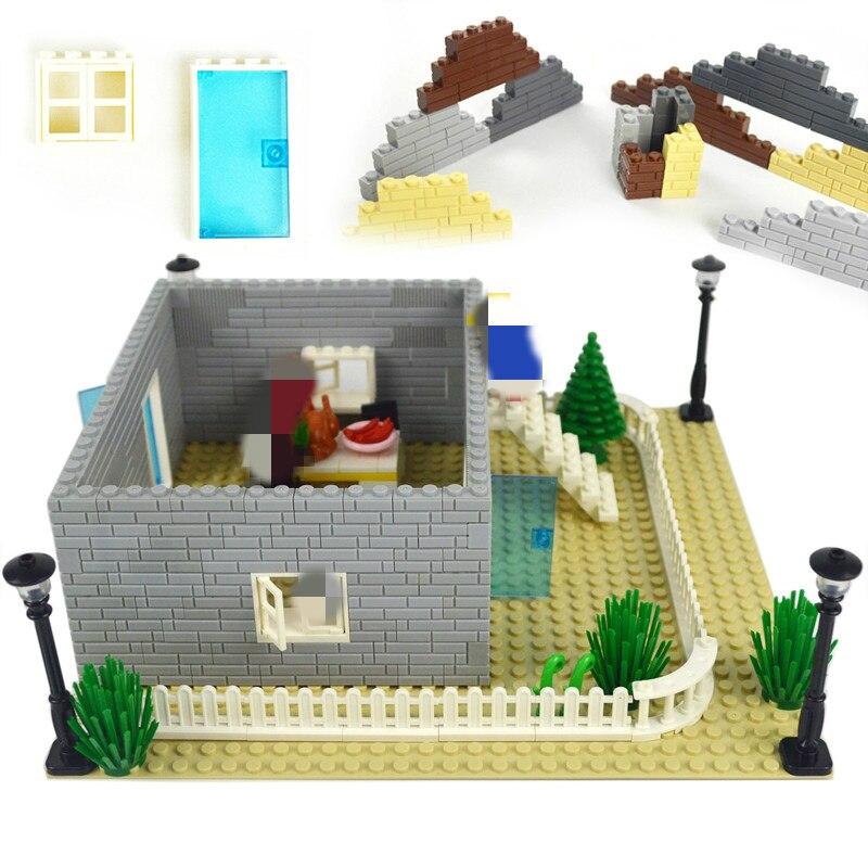 Building Blocks Doors Windows Thick Wall DIY Bricks 1x2 1x3 1x4 Dots MOC Accessories Educational Toy Compatible All Brands