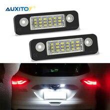 2 pièces Voiture Canbus LED Plaque D'immatriculation Lumières pour Ford Fiesta Fusion 2007 2008 2010 2012 2013 2014 2015 2016 2017 6500K Blanc