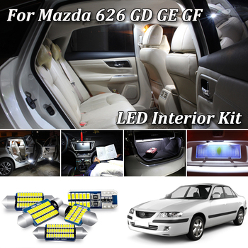 White Canbus LED Interior Light For Mazda 626 GD GE GF LED Interior Map Dome Trunk License Plate Bulb (1988-2002) image