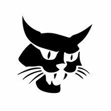 Divertido gato montés pegatinas de coche cubierta impermeable cero calcomanías maleta para portátil Auto accesorios de decoración de 15cm * 15cm