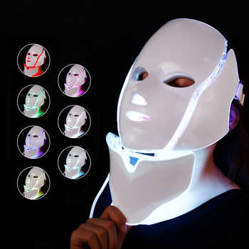 Foreverlily LED Facial Mask Therapy 7 Colors Face Mask Machine Photon Therapy Light Skin Care Wrinkle Acne Removal Face Beauty - DISCOUNT ITEM  45% OFF All Category