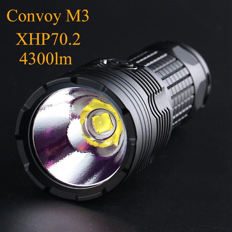 Convoy Portable Flashlight Powerful 26650 Flash Light M3 Cree Xhp70.2 Linterna LED 4300lm Temperature Protection Hunting Torch