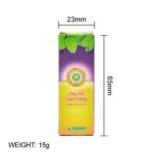 Вьетнамский Золотой башенный носовой ингалятор, мятный крем против ринита, для носа, экстрасенсорный, для носа, освежающее масло, пробуждение, холодная мазь P0054
