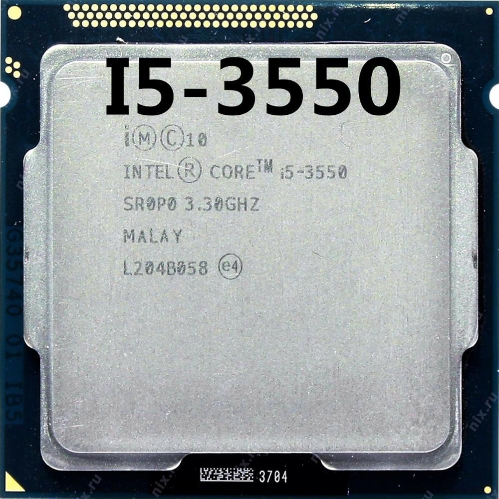 Intel Core I5-3550 I5 3550 Quad-Core Processor (6M Cache, 3.3GHz) LGA1155 PC Computer Desktop CPU