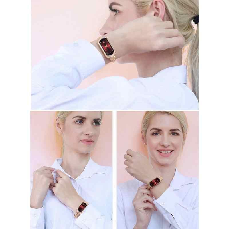 יהלומי גבירותיי חכם צמיד נשים נקבה עמיד למים לב שיעור לחץ דם צג צמיד שעון חכם שינה Tracker