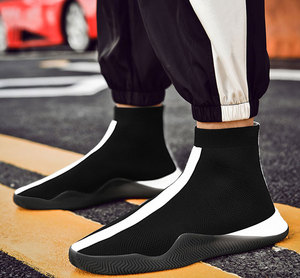 Image 5 - Mens Fashion Socks Shoes Man Sneakers Male Flying Run Walk Casual Shoes Footwear Black White Red masculino Zapatillas Hombre