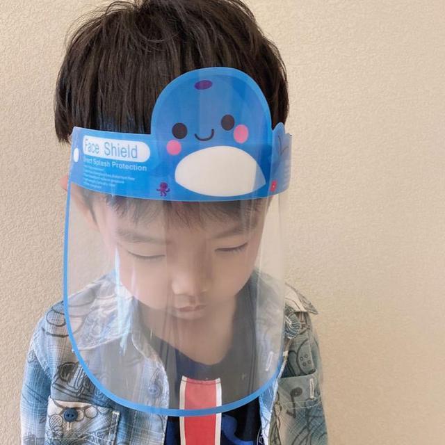 Children Full Face Shield Screen Mask Visor Eye Anti Droplet Prevent Saliva Splash Covering Droplet Transparent Mascarillas 4