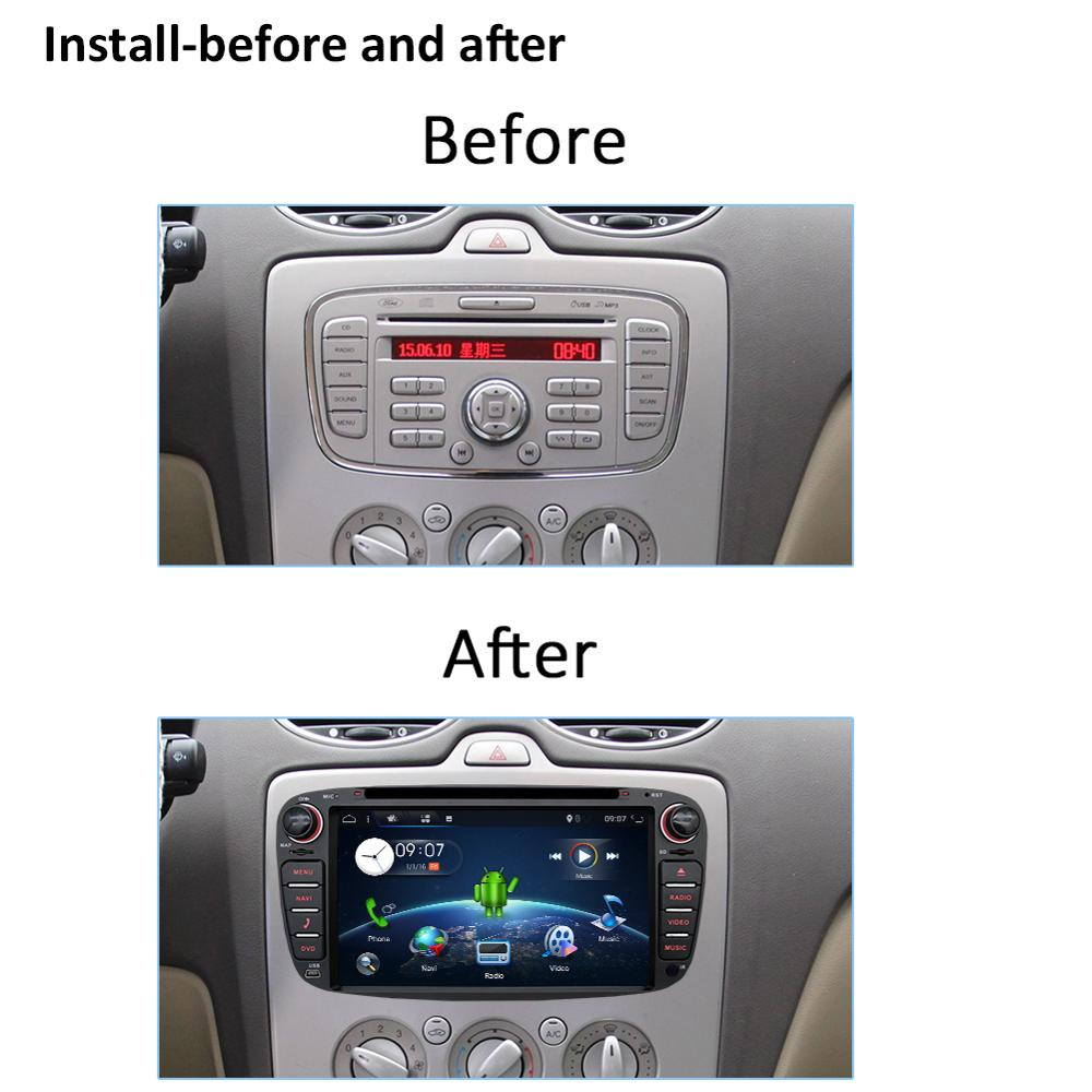 Image 4 - 2 din car radio gps Android 10.0 Car DVD for Ford Focus 2 Mondeo C max S max Galaxy with Wifi 3G BT Audio Radio Stereo Head Unitcar dvdradio gps androidcar radio gps android -