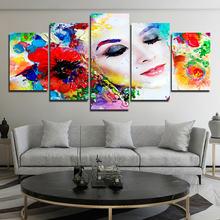 Художественная живопись красочные цветы Женский плакат для украшения