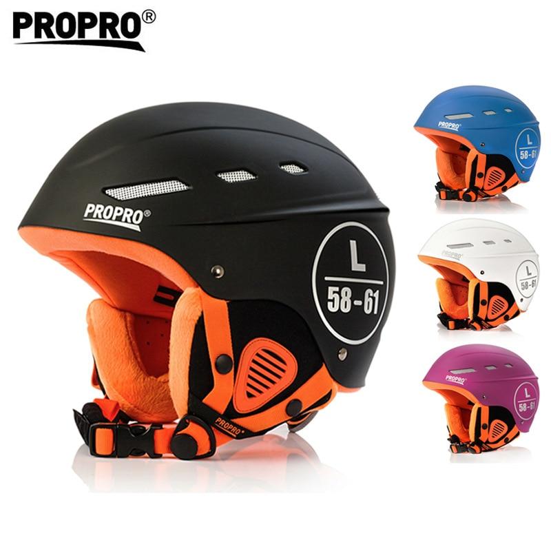 Propro capacete de segurança ao ar livre para esqui snowboard patinação adulto das mulheres dos homens inverno capacetes de esqui para venda preto branco tamanho ajustar