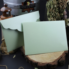 Wysoko spersonalizowany ekskluzywny biznes weselny 250g gruby wytłaczany jasny kaczuszka jajko zielony perłowy papier koperta tanie tanio CRANEKEY CN (pochodzenie) customized 250ZG0112 Okna koperty Zwykłym papierze Prezent koperty