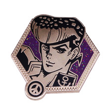 Bizarre Adventure Glitter Badge Met Anker En Vrede Teken Prachtige Anime Fans Collection(China)
