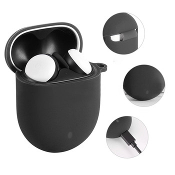 top selling Anti-shock Silicone Case Box Protective Cover for G-oogle Pixe Buds 2 Earbuds Support Wh