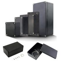 Case Project-Box Housing-Instrument Enclosure Black Electrical-Junction-Box Dustproof