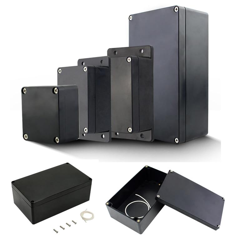 Project Box ABS Plastic IP65 Waterproof Dustproof Electrical Junction Box Enclosure Black Housing Instrument Case